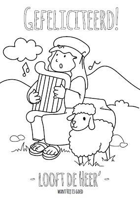 Kleurkaart Looft de Heer'