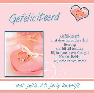Ongebruikt 25 jaar getrouwd - Baaij Light Cards Webshop IF-05