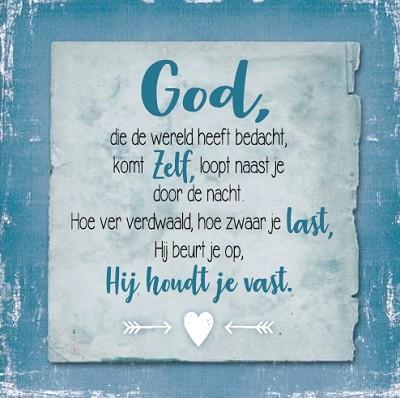 God houdt je vast (120 x 120 mm)