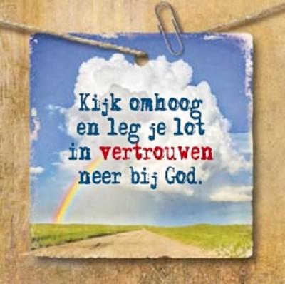 Vertrouw op God  (71 x 71 mm)