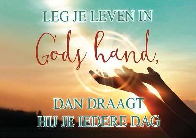 Leg je leven in Gods hand