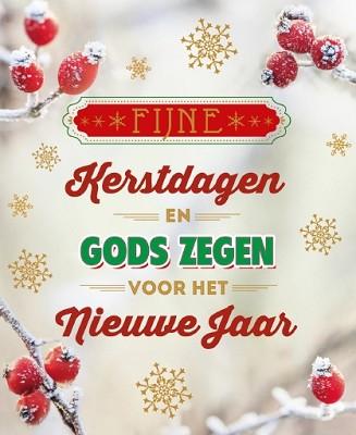 Hangdoosje Fijne Kerstdagen/Gods Zegen